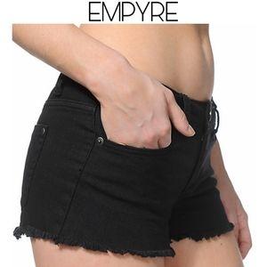 3/$25 🥂 Empyre Black Cutoff Shorts